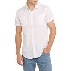 Burnside Men's Big Victor Woven Shirt, White