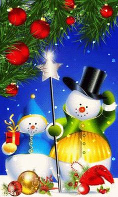 Christmas gif`s animated pictures. If you like it - pin it for later ! Merry Christmas Gif, Christmas Scenes, Merry Christmas And Happy New Year, Christmas Pictures, Christmas Snowman, All Things Christmas, Winter Christmas, Christmas Time, Christmas Crafts