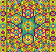 The Great Hexagon Quilt - Along: A LOT of hexies. Also has a link to hexie quilt blocks using value of colour Hexagon Quilt Pattern, Hexagon Patchwork, Quilt Patterns, Quilting Tips, Quilting Tutorials, Quilting Designs, Hand Quilting, Hama Beads, Peler Beads