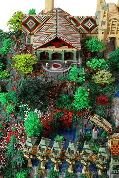 Rivendell Lego creation.