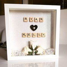 Personalised box frame by Huxleyshomemade on Etsy