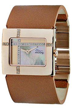 Moog Paris-Mondrian Damen-Armbanduhr Zifferblatt Kupfer Armband Kupfer Leder Rindleder, hergestellt in Frankreich-m44372F-006 - http://uhr.haus/moog-paris/moog-paris-mondrian-damen-armbanduhr-kupfer-in-f