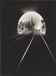 Francois Kollar, The mouth of Sainte-Catherine tunnel, Sotteville-lés-Rouen, Industrial Photography, Vintage Photography, Art Photography, Landscape Photography, Sotteville Les Rouen, Black White Photos, Black And White, Sainte Catherine, Powerful Art