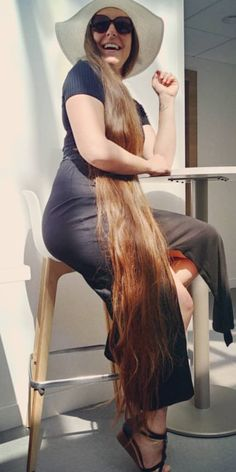 Beautiful Long Hair, Gorgeous Hair, Really Long Hair, Rapunzel Hair, Loose Hairstyles, Dream Hair, Big Hair, Hair Lengths, Blonde Hair