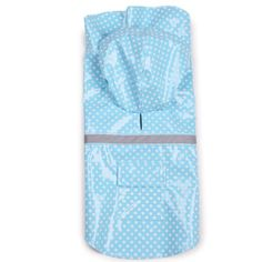 East Side Collection PU and Polyester Polka Dot Dog Rain Jacket, 16-Inch, Medium, Blue - http://www.thepuppy.org/east-side-collection-pu-and-polyester-polka-dot-dog-rain-jacket-16-inch-medium-blue/