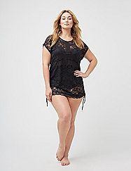 3e9f2c82fa Cacique. Plus size lace swim cover-up from Lane Bryant