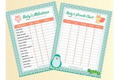 Free Baby's Milestone's Printables