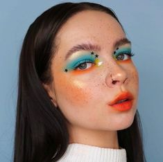 Daring makeup looks are totally in right now and here are 18 different looks to try ASAP. Glam Makeup, Indie Makeup, Cute Makeup, Girls Makeup, Pretty Makeup, Makeup Art, Makeup Tips, Gorgeous Makeup, Makeup Ideas