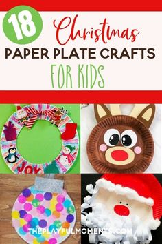 #christmascrafts #christmascraftsforkids #paperplatecrafts #paperplatechristmascrafts #paperplatecraftsforkids