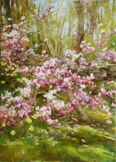 Kathy Anderson: Spring Magnolia, oil on canvas, 36 x 26 inches