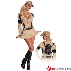 Ghostbusters Dress Adult Womens Costume - Who ya gonna call? Calls will pour in when you wear this sexy and officially licensed Ghostbusters Dress adult women's costume. Halloween Costumes For Sale, Sexy Adult Costumes, Sexy Costumes For Women, Halloween Fancy Dress, Halloween Ideas, Adult Halloween, Halloween 2018, Crazy Costumes, Trendy Halloween