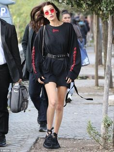 Work it! Bella Hadid was hard at work filming the latest commercial for luxury fashion house Bulgari in Rome, Italy
