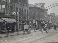 old pictures of downtown flint ,mi | Downtown Flint, circa 1900.