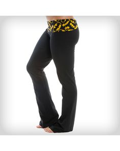 Batman Yoga Pants. H. we need to find you a pair of these to wear to your appointment so you won't have to change.
