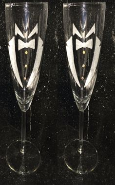 Gay wedding Grooms flute toasting glasses by CreatingNewDesigns, $15.00