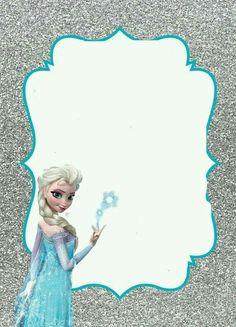Frozen Birthday Invitations, Frozen Themed Birthday Party, Disney Princess Birthday, Frozen Party, Birthday Party Themes, 2nd Birthday, Birthday Tarpaulin Design, Festa Frozen Fever, Disney Frames
