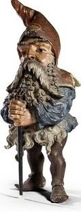 A German cold painted terracotta gnome 19th c I don't know the Artist.  It's very well done