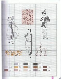 Veronique Enginger ''Mode d hier  et d aujourd hui au point de croix''