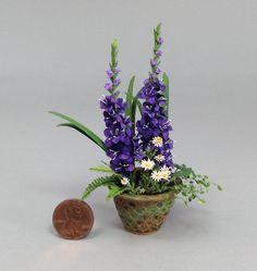 Dollhouse Miniature 1 12th Scale Gladiola Planter by Mary Kinloch IGMA Fellow | eBay