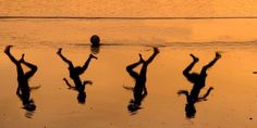 """Israeli artist Amir Schiby, known for his politically satirical collages, created an image of Ahed Atef Bakr, Zakaria Ahed Bakr, Mohamed Ramez Bakr, and Ismael Mohamed Bakr, to honor their tragically short lives. It depicts a lone soccer ball in the surf, with the shadows of playing children nearby. He wrote on Facebook that the image was created """"as a tribute to *all* children living in war zones."""""""