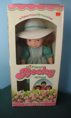 Vintage Fisher Price My Friend #218 Becky Doll NEW in BOX!  $90.00 #teamsellit #bonanzateamsellit