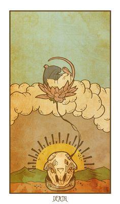 Muroidea Rat Tarot - Death - Art Print $32.00