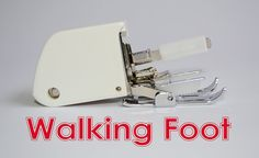 The Walking foot (also called the Even Feed or Dual Feed foot) uses a pair of feed dogs on the upper layer of your project in conjunction with the lower pair already on your sewing machine, to move layers of fabric at a steady rate. This prevents puckering and stretching caused when the pressure exerted…