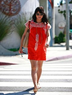 bright boho mini dress