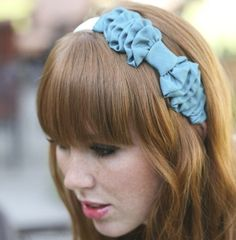 Turquoise Bow Headband for women