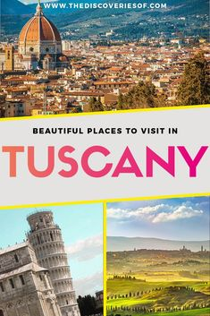 Best Places to Visit in Tuscany - Italy Travel Guide. Awesome things to do in Tuscany include vineyard - beach and the food. #travel #traveldestinations #italytravel 2
