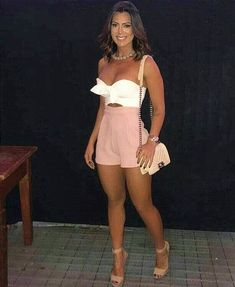Swans Style is the top online fashion store for women. Shop sexy club dresses, jeans, shoes, bodysuits, skirts and more. Sexy Outfits, Chic Outfits, Sexy Dresses, Summer Outfits, Fashion Outfits, Summer Brunch Outfit, Short Dresses, Look Fashion, Girl Fashion