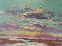 Sunset from Barmouth -  Christopher Williams 1913  British  1873-1934