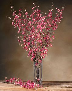 Cherry Blossom Silk Flower Stem - Beauty