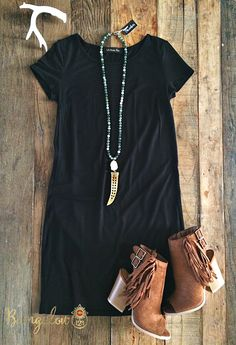 Free Bird Dress - Black