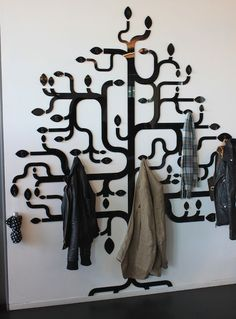 Coat Tree - I LOVE this idea, and am working on my own version in my entry...stay tuned!