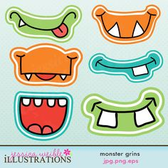 """for a """"photo booth"""" - monster party Monster Party, Monster Birthday Parties, Birthday Party Favors, Birthday Decorations, 3rd Birthday, Cute Monsters, Little Monsters, Monster Face, Photo Booth Props"""