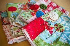 Easy Sew Kitchen Hand Towels ~ http://steamykitchen.com