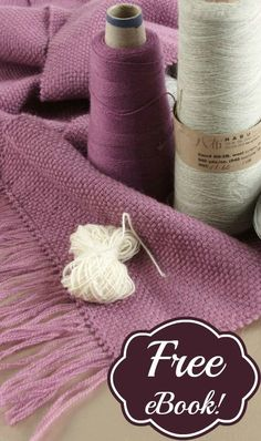 Free weaving patterns! Browse this free eBook, with 7 woven scarf projects for rigid-heddle and 4-shaft looms.