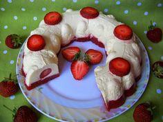Tvarohovo-jahodova torta bez muky