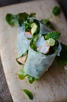 blissfulb - BLISS - blissful eats with tina jeffers: Shrimp saladrolls