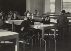 Iwao Yamawaki, 'Cafeteria after lunch, Bauhaus, Dessau' 1930-2, printed later