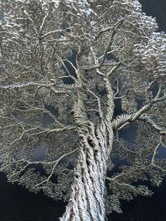 Dense Wire Tree Sculptures by Clive Maddison  http://www.thisiscolossal.com/2014/10/dense-wire-tree-sculptures-by-clive-maddison/
