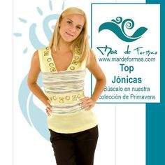El Top Jónicas Búscalo en nuestra colección antes de que termine el verano http://www.mardeformas.com/es/50-blusa-jónicas.html