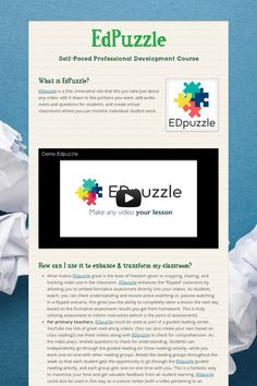 EdPuzzle allows teachers to make any video more interactive by adding audio, stopping to ask questions and making voice comments. This would work well to give students more accountability when watching videos. Students simply join the teacher's class or can connect using Google Classroom. Since it allows you to record over the whole video it could be beneficial in foreign language classrooms so that the videos are solely in the target language.