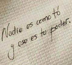 Nadie es como tú...