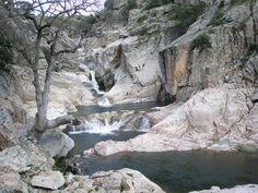 The waterfalls and pools in Bau Mela, Villanova Strisaili #Ogliastra #Sardinia #Italy