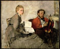 Degas. Violinist and young woman
