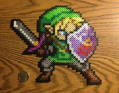 i made zelda out of Perler beads
