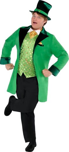 Adult Lucky Leprechaun Costume Plus Size - Party City