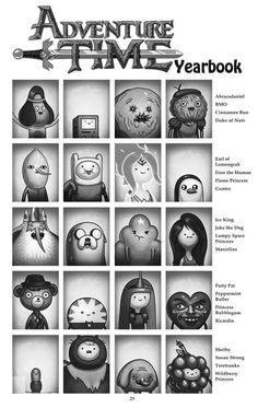 Who's your favourite? Mine are; Finn, Flame Princess, BMO, Marceline, Bubblegum, Shelby, Jake & Lady Ranicorn (: